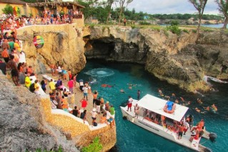 YS Falls and Ritz Cafe from Montegobay